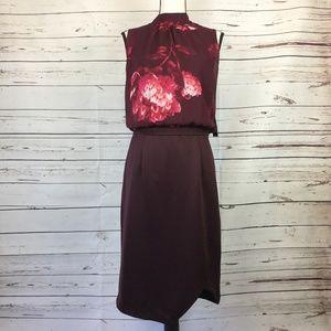 New York & Co Floral Midi Dress, Size L